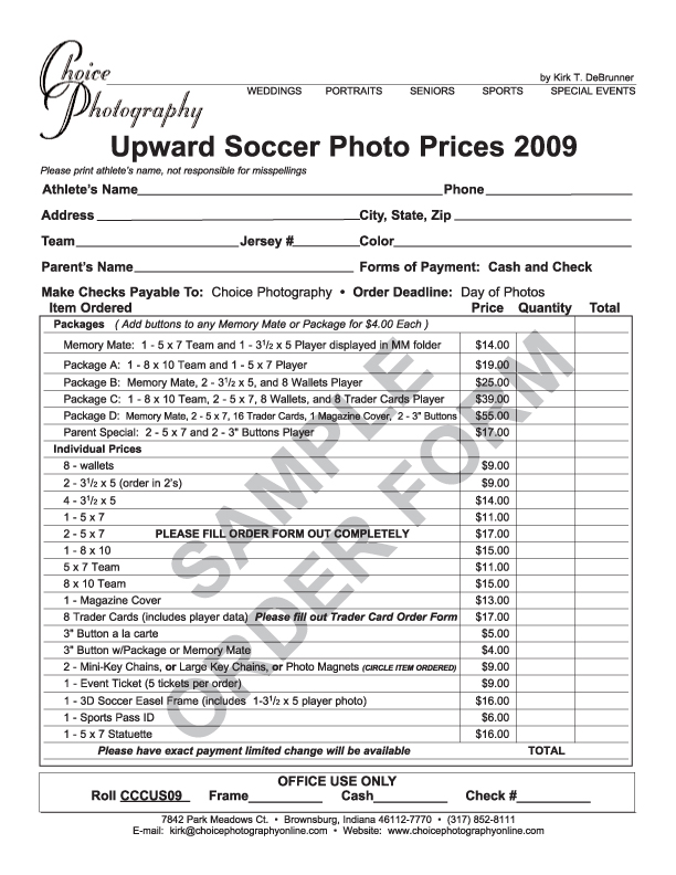 sports photography order form template - Ideal.vistalist.co